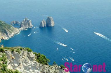 Capri Faraglioni Visti Dal Monte Solaro