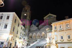 Amalfi Il Duomo Di Notte Scorcio
