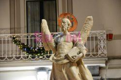 Amalfi Fontana Con Statua Di Sant Andrea Dettaglio